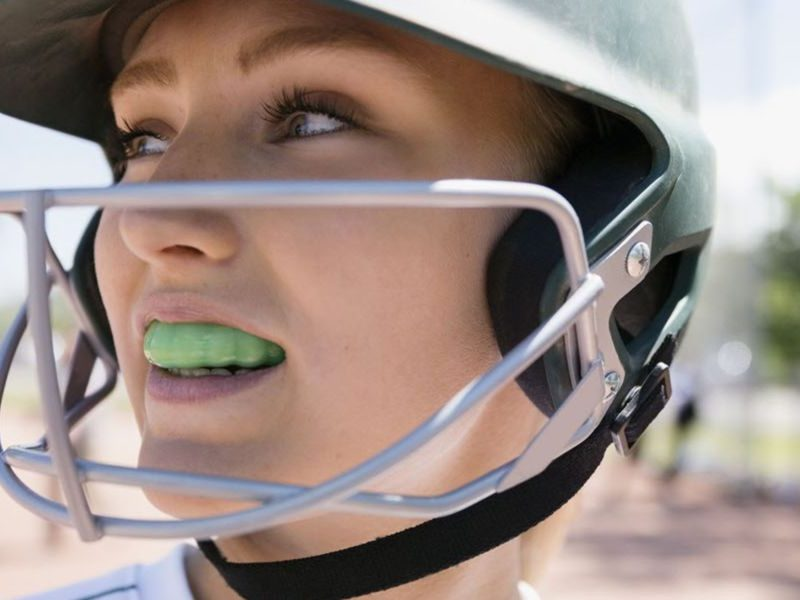 Ferula deportiva deportes contacto dentista beisbol